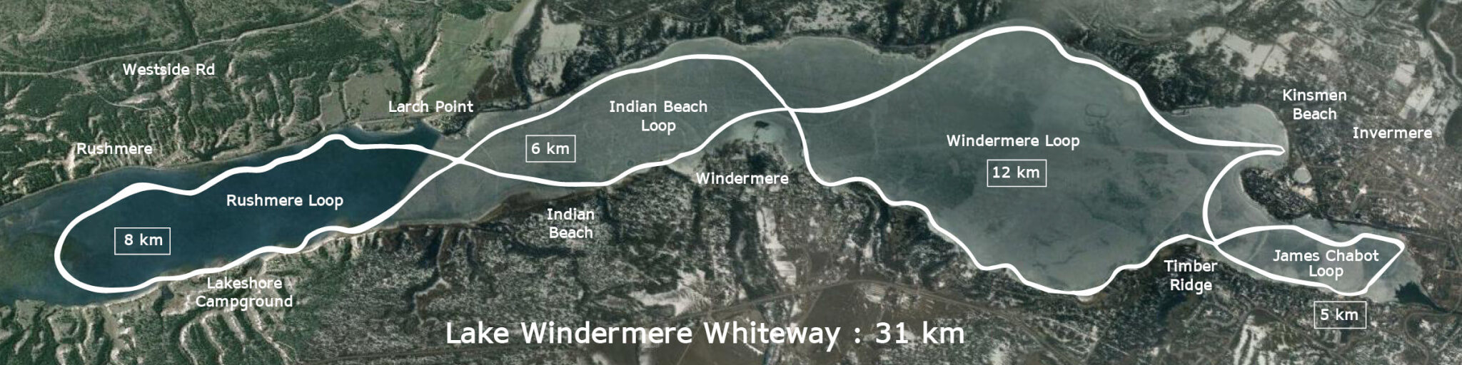 Lake Windermere Whiteway Map